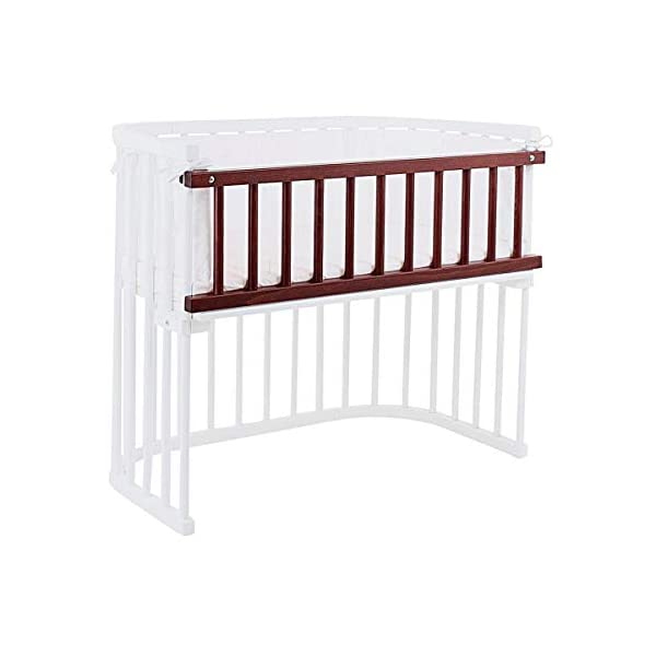 babybay 160203 Colonial Varnished Guardrail for Maxi/Box Spring, One Size, Multi-Colour babybay Made of solid wood Comes with the locking clip Fit for maxi and box spring co-sleeper cot 4