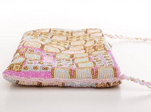 JOSYBAG Perlentasche aus tausenden von Perlen festliches Modell Tasche Rosa