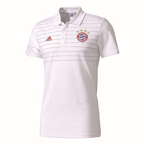 Polo de ajuste con bordado de Fc Bayern y una delgada. FCB bordado Corte ajustado Material: 70% algodón/30% poliéster.