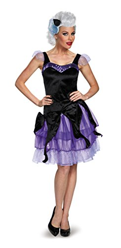 Ursula Arielle Kostüm - Disguise Women's Ursula Deluxe Adult, Black/Purple,