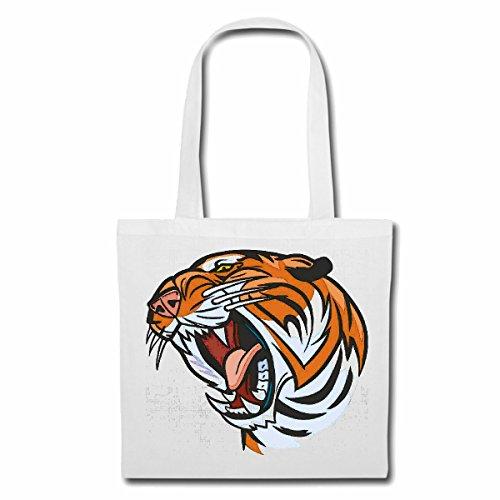 sac à bandoulière TIGER TIGER WILD ANIMAL BIG CAT LEOPARD BIG CAT Sac Turnbeutel scolaire en blanc