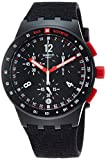 Swatch Herren Chronograph Quarz Uhr mit Silikon Armband SUSB411