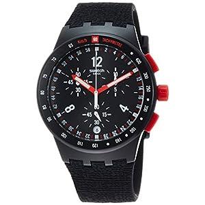 Swatch Reloj Cronógrafo para Hombre de Cuarzo con Correa en Silicona SUSB411