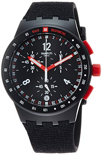 Swatch Orologio Cronografo Quarzo Uomo con Cinturino in Silicone SUSB411