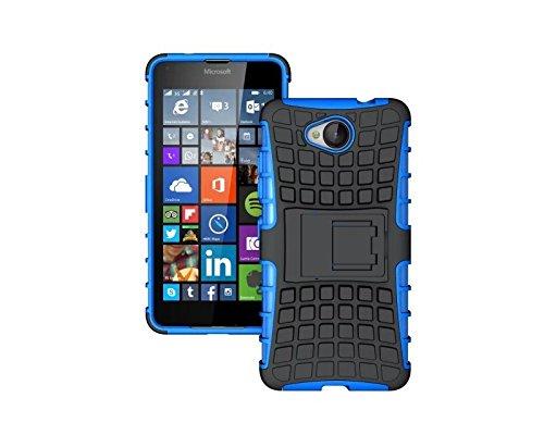 Preisvergleich Produktbild Dooki, Lumia 650 Hülle, Zerklüftet Kippständer Zäh Hohe Schlag Schwerlast Stoßfest Fallschutz Hybrid 2 in 1 Dual Schicht Hart Silikon Gummi Schützend Tasche Schutzhülle für Microsoft Lumia 650