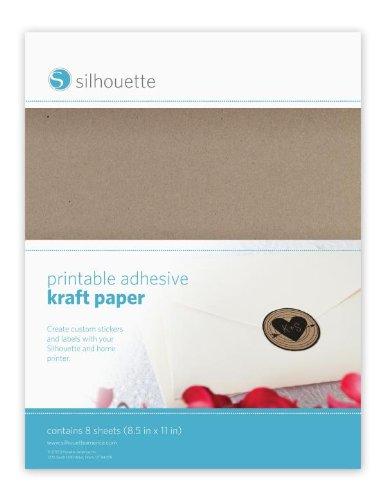Silhouette Inkjet bedruckbar selbstklebend, Papier–8Blatt