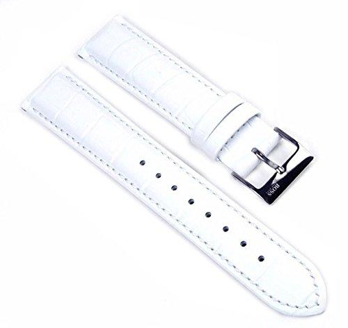 Hugo Boss Uhrenarmband Leder Band Weiss 18mm für 1502259