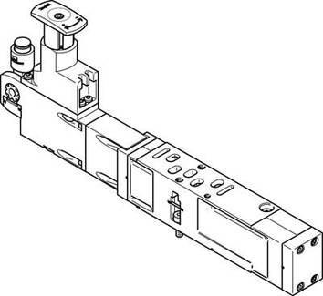 VABF-S4-1-R2C2-C-6E (560766) Reglerplatte Baubreite:26mm Basierend auf Norm:ISO 15407-2
