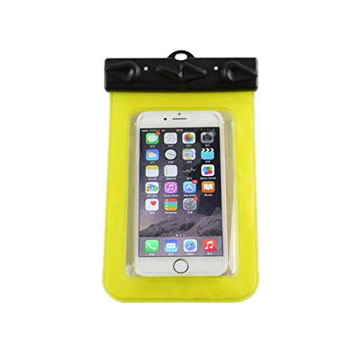 Yellow : SZTARA Waterproof Case Dry Bag Pouch Universal Size Cell Phone Protector for Boating / Kayaking / Swimming / Diving / Skiing