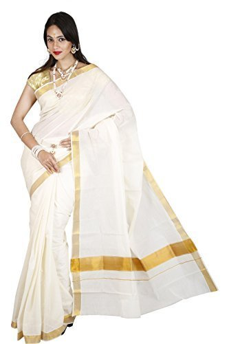 Maxis Cotton Saree (Maxiskrlpln_Off-White)