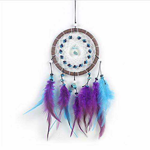 Yuany Handgemachte Dream Catcher Net mit Federn Vintage Enchanted Forest Türkis Dreamcatcher Dekoration Ornament (Forest Dekoration Enchanted)