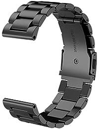 26mm Koly Pulsera de acero inoxidable correa banda de reloj para Garmin Fenix 5X GPS Watch