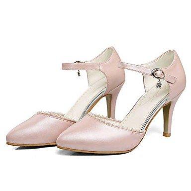 Talloni delle donne Primavera Estate Autunno Altro PU Wedding ufficio & carriera Abito tacco a spillo imitazione perla Blu Rosa Bianco Blue
