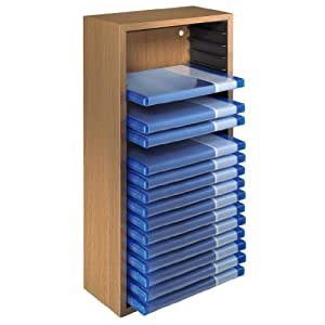 hama tour de rangement en h tre pour 20 blu ray. Black Bedroom Furniture Sets. Home Design Ideas