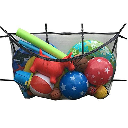 GreatFun Large Mesh Strand Tote Bag Large Sport Drawstring Mesh Ball Bag für Outdoor-Schwimmbecken Kinderspielzeug Organizer Aufbewahrungsbeutel, hängen Pool Aufbewahrungstasche faltbar