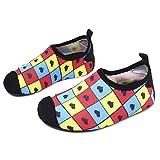 L-RUN Leichte Wasserschuhe mit Gummisohle Quick-Dry für Beach Pool Surf Yoga Übung Gitter