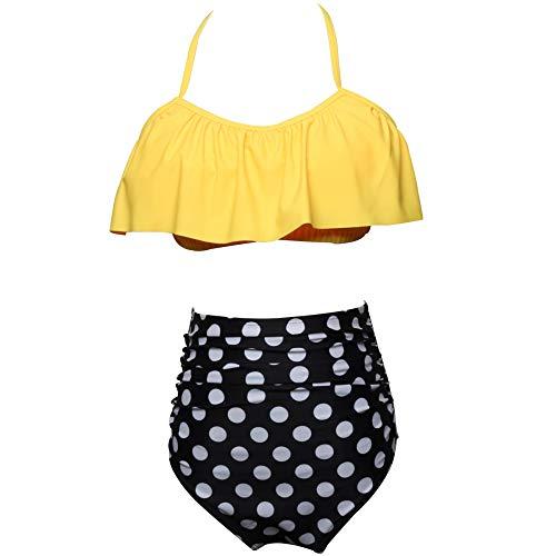78db9fa288 Traje De Baño De Mujer Halter Tallas Grandes Bikinis Dos Pieza Cintura  Alta,J-S
