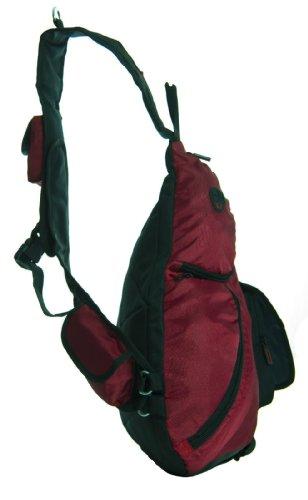 Big Handbag Shop unisex Monostrap Cycling Cross Body messenger Gym School Travel zaino Coffee