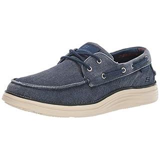 Skechers Men's Status 2.0 LORANO Boat Shoes, Blue (Navy Canvas NVY), 10 (45 EU)