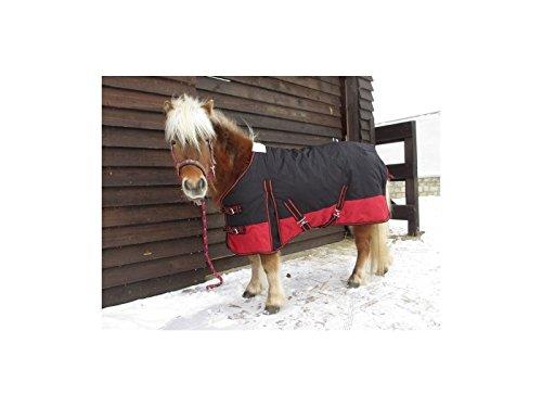 Weidedecke mit Polarfleeceinnenfutter Equestrian schwarz/rot 85cm