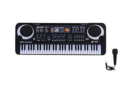 KELUNIS 61 Tasten Electronic Digital Electric Electric Piano Music Keyboard mit Mikrofon für Kinder-Bildungs-Aufklärung, Spiel zusammen