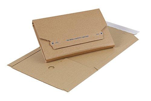 swiftpak 5100Multiwall Post Box, Wellpappe, Kraft Außen, 270mm L x 185mm W x 20–60mm H, braun (25Stück)