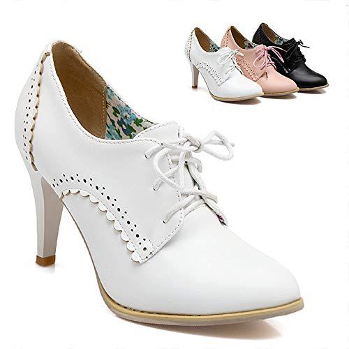 Lsm-Talons Damen Stiletto High Heels Spitz Riemchen Schuhe
