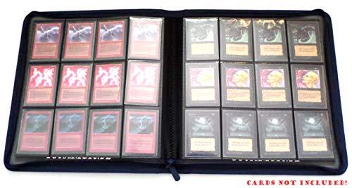 docsmagic.de Premium Pro-Player 12-Pocket Playset Zip-Album Dark Blue - 480 Card Binder - MTG - PKM - YGO - Reissverschluss Dunkelblau