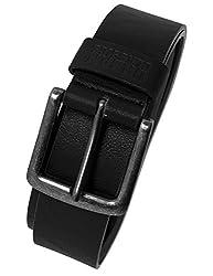 Urban Classics TB1288 Unisex Gürtel Leather Imitation Belt, Schwarz (Black 7), 120 cm (Herstellergröße: L)