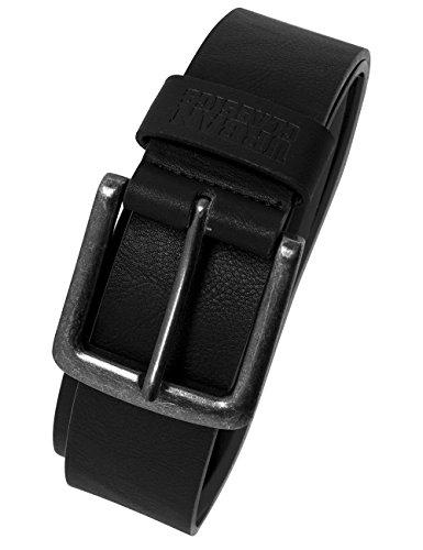 Urban Classics TB1288 Unisex Gürtel Leather Imitation Belt, Schwarz (Black 7), 110 cm (Herstellergröße: M)