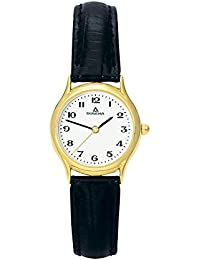 Dugena Damen-Armbanduhr Vintage - Traditional Classic Analog Quarz Leder 1626311