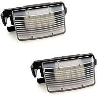 KB63 - LED SMD Numero de luz de la placa, iluminación exterior, módulos completos unidad Plug'n Play para  Versa Livina Bra Make Geniss C-Gear Grand Livina Pulsar GT-R Cube 350Z 370Z Skyline