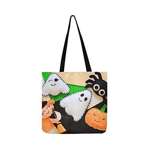 Halloween Niedlich Filz Ornament Dekor Kleine Leinwand Tote Handtasche Schultertasche Crossbody Taschen Geldbörsen Für Männer Und Frauen Einkaufstasche