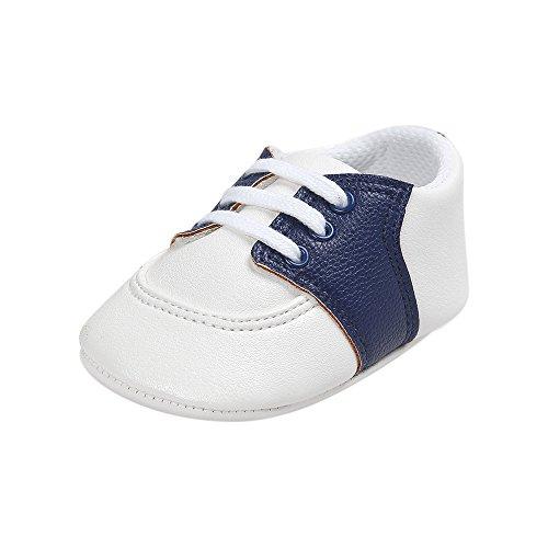 Estamico scarpe primi passi bambine, unisex scarpine neonato sneakers,blu navy 0-6 mesi