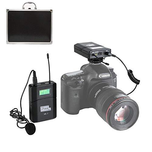 Pixel mk-7 uhf wireless microfono lavalier omani-direzionale sistema applicabile per fotocamere reflex digitali, canon, nikon, sony e videocamere (richiede un'interfaccia da 3,5 mm)
