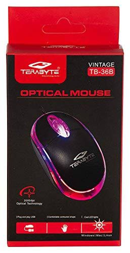 Terabyte HD05 3D Optical Wired USB Mouse (Black)