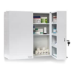 relaxdays armoire pharmacie acier xxl toilette. Black Bedroom Furniture Sets. Home Design Ideas