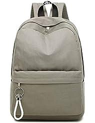 QWKZH Mochilas Preppy Style Schoolbag Mochila Adolescentes Grandes Estudiantes universitarios Bolsas de Escuela Secundaria Nylon Femenino