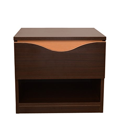 HomeTown Swirl Night Stand (Denver Oak and Urban Teak)