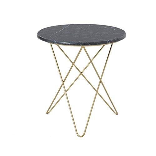Mesa redonda pequeña dorada Sala de estar creativa Mesa redonda de ...