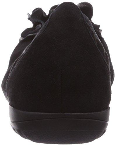 Caprice 22160, Ballerines femme Noir (Black/Suede/4)
