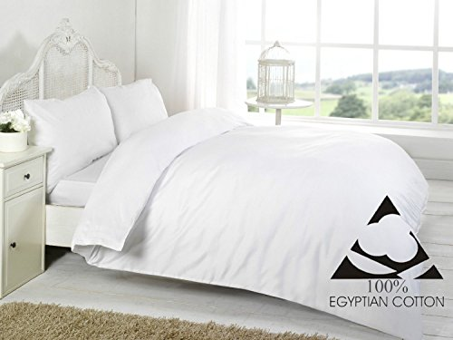 (Single Flat Sheet, White) - Linen Zone 400 Thread Egyptian Cotton, Single Flat Sheet - White -