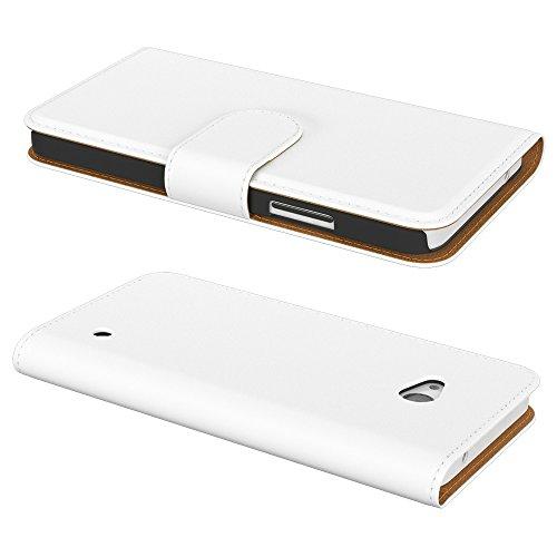 Ultra Slim Cover für Nokia Lumia 650 Schutz Hülle TPU Case Schutzhülle Silikon Tasche Dünn Transparent Weiß (Book)