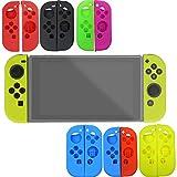 Carcasa de silicona suave para Nintendo Switch Diadia, juego de accesorios para Nintendo Switch