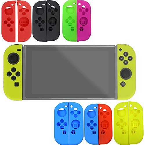 Silikon-Schutzhülle für Nintendo Switch Diadia (weich) Blau/Rot