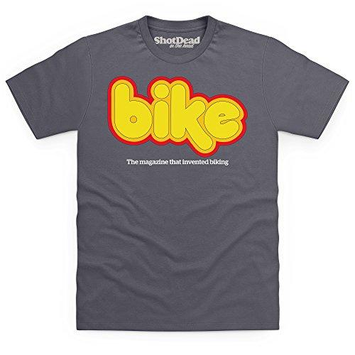 Official Bike Magazine Early 70s Logo T-Shirt, Herren Anthrazit
