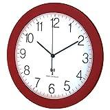 Horloge Murale Radio Pilotée TFA 60.3512.05 Rouge-Métallique Mouvement Silencieux 300 mm