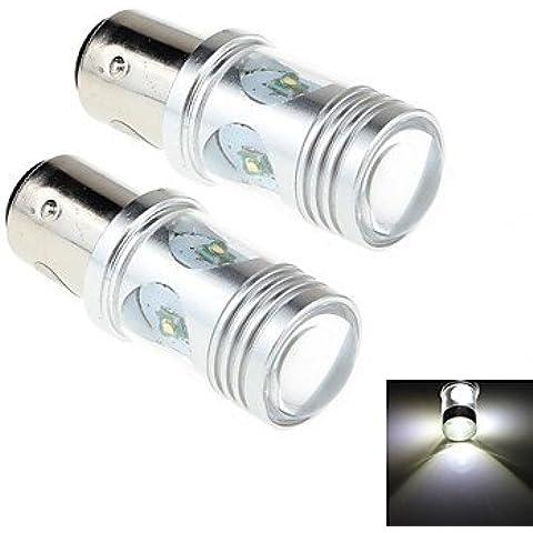CHLG- 2pcs 1157 20w 4 XP-E 1800lm 6000k luce bianca led per lampada faro / luce di nebbia dell'automobile (CC