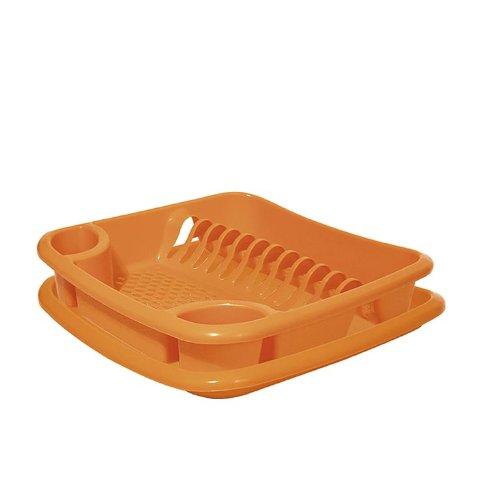 Juypal Escurreplatos, Naranja, 38,5 x 38,5 x 8,5 cm.