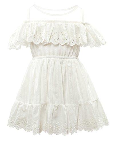Cielarko Vestido para Niñas Blanco 4-5 Años